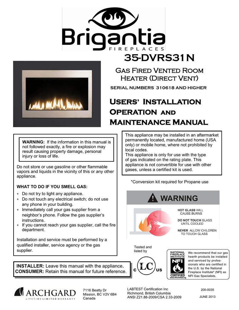 Standard Fireplace Dimensions Elegant Brigantia 35 Dvrs31n Specifications