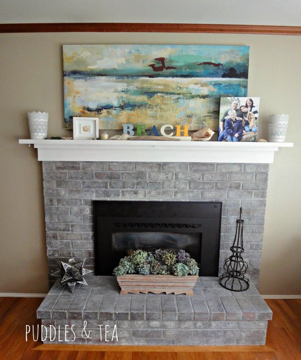 white washed brick fireplace puddles and tea white wash brick fireplace makeover of white washed brick fireplace