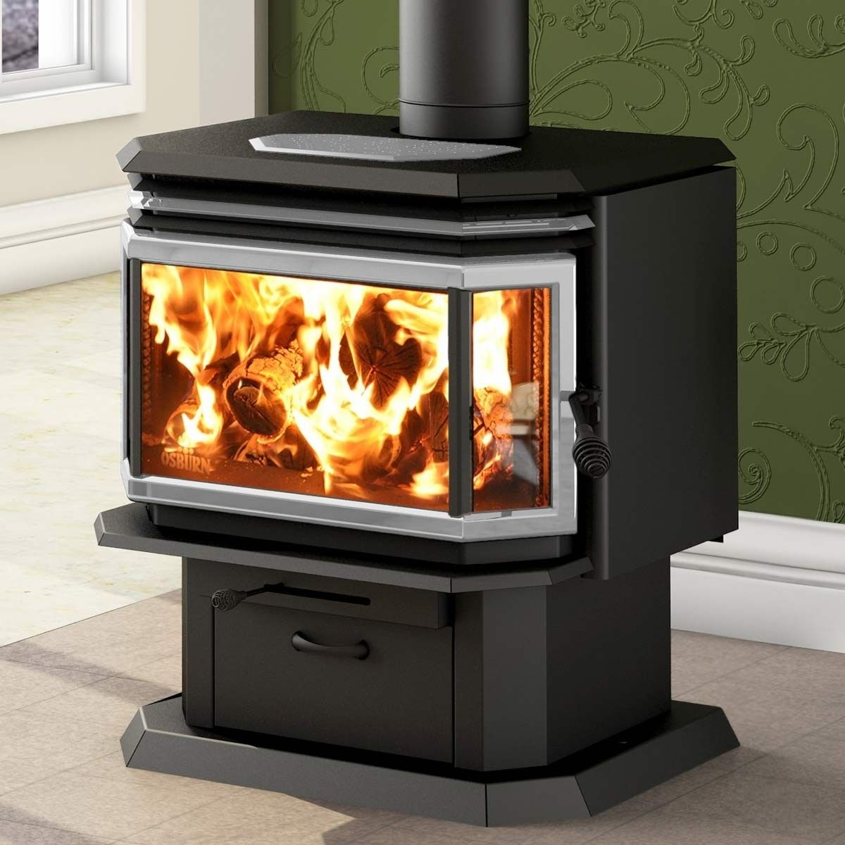 Stoves and Fireplaces Lovely Osburn 2200 Metallic Black Epa Wood Stove Ob In 2019
