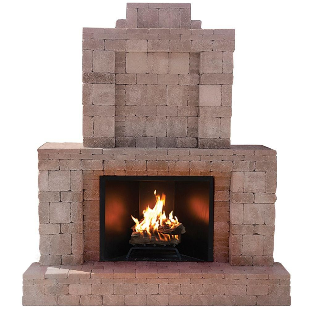fire brick outdoor fireplace luxury pavestone rumblestone 84 in x 38 5 in x 94 5 in outdoor stone of fire brick outdoor fireplace
