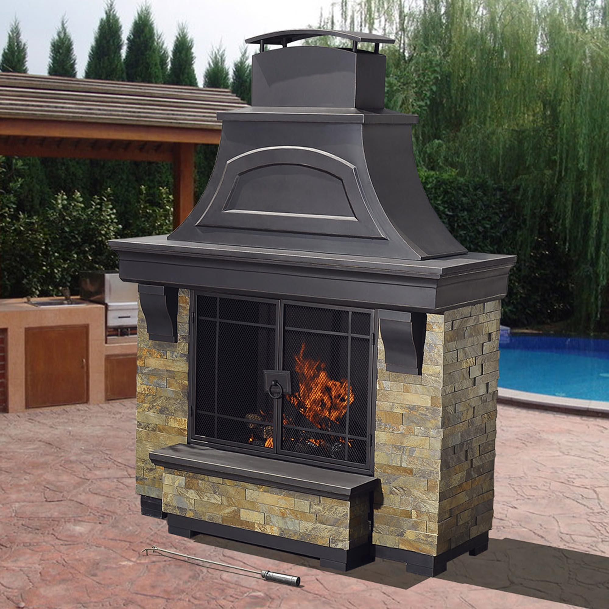 manificent decoration outdoor fireplaces wood burning sweet sunjoy nutmeg wood burning fireplace