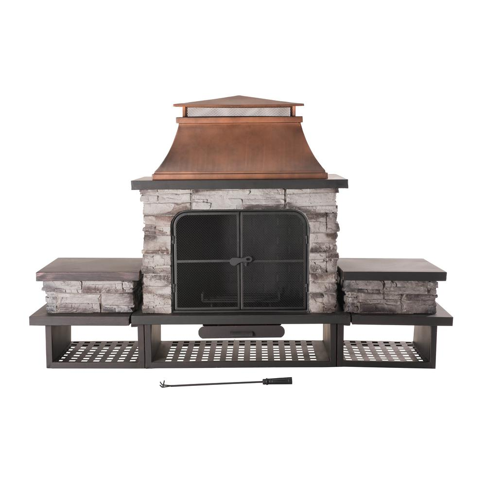 Sunjoy Outdoor Fireplace New Sunjoy Bel Aire 51 97 In Wood Burning Outdoor Fireplace