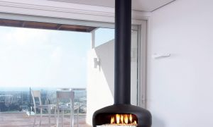 13 Lovely Suspended Fireplace