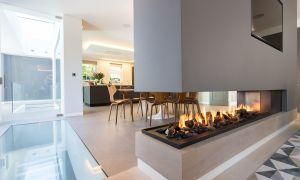 12 Elegant Three Sided Fireplace