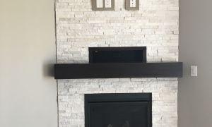 28 Beautiful Tile Around Fireplace Ideas