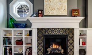 25 Awesome Tile Fireplace Designs Photos