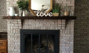 11 Lovely Tile Over Brick Fireplace before and after