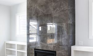 12 New Tiled Fireplace Wall