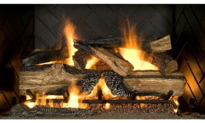 12 Elegant Vented Gas Fireplace Logs with Remote