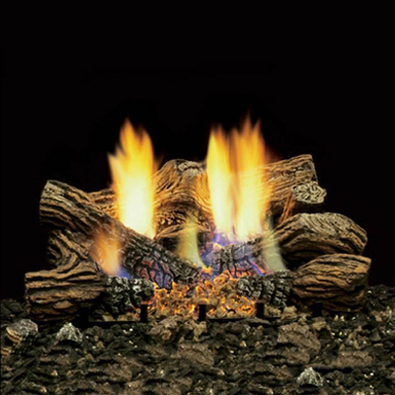 majestic 24 inch charred timber ventless natural gas log set remote pilot kit c=2