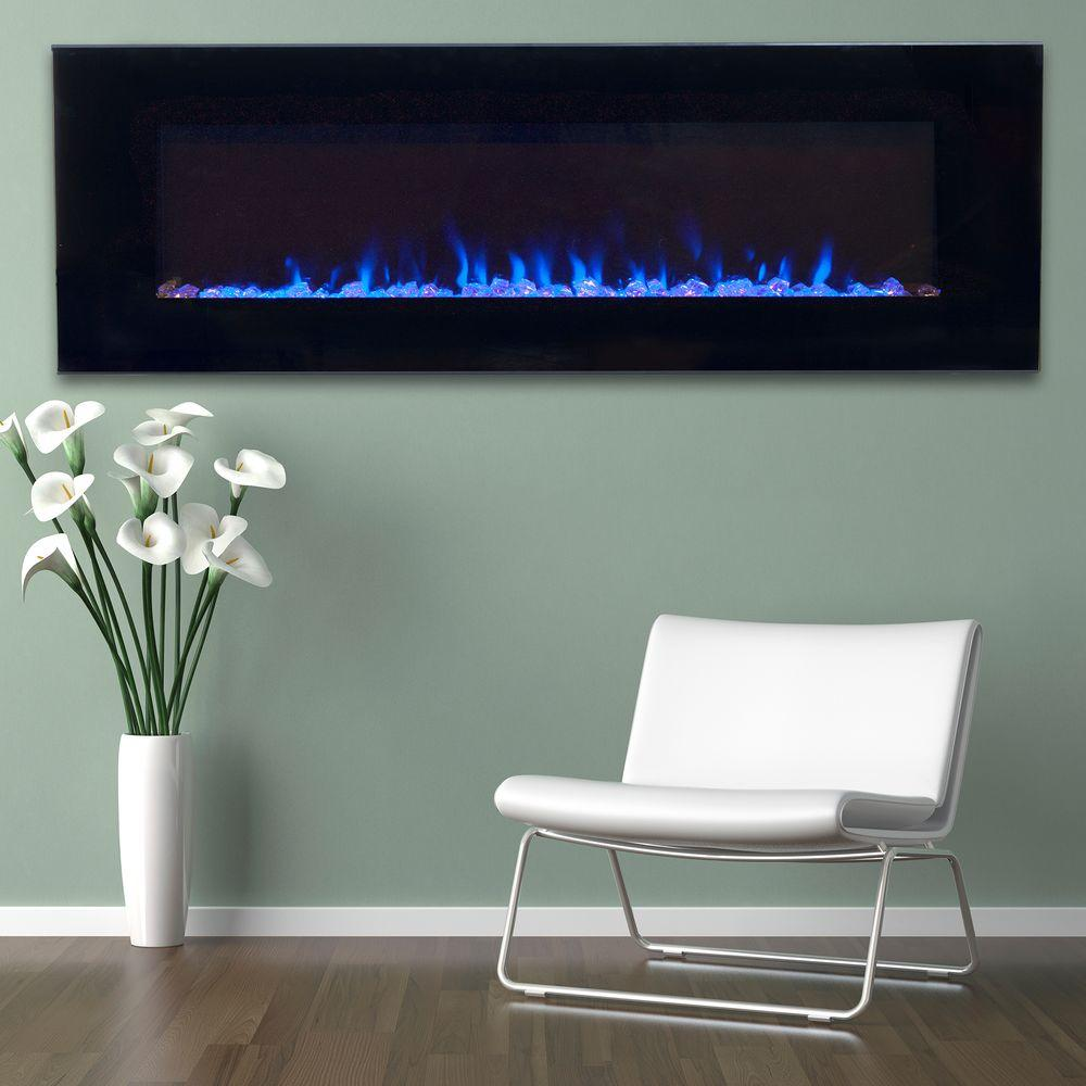 black northwest wall mounted electric fireplaces 80 2000a 54 64 1000