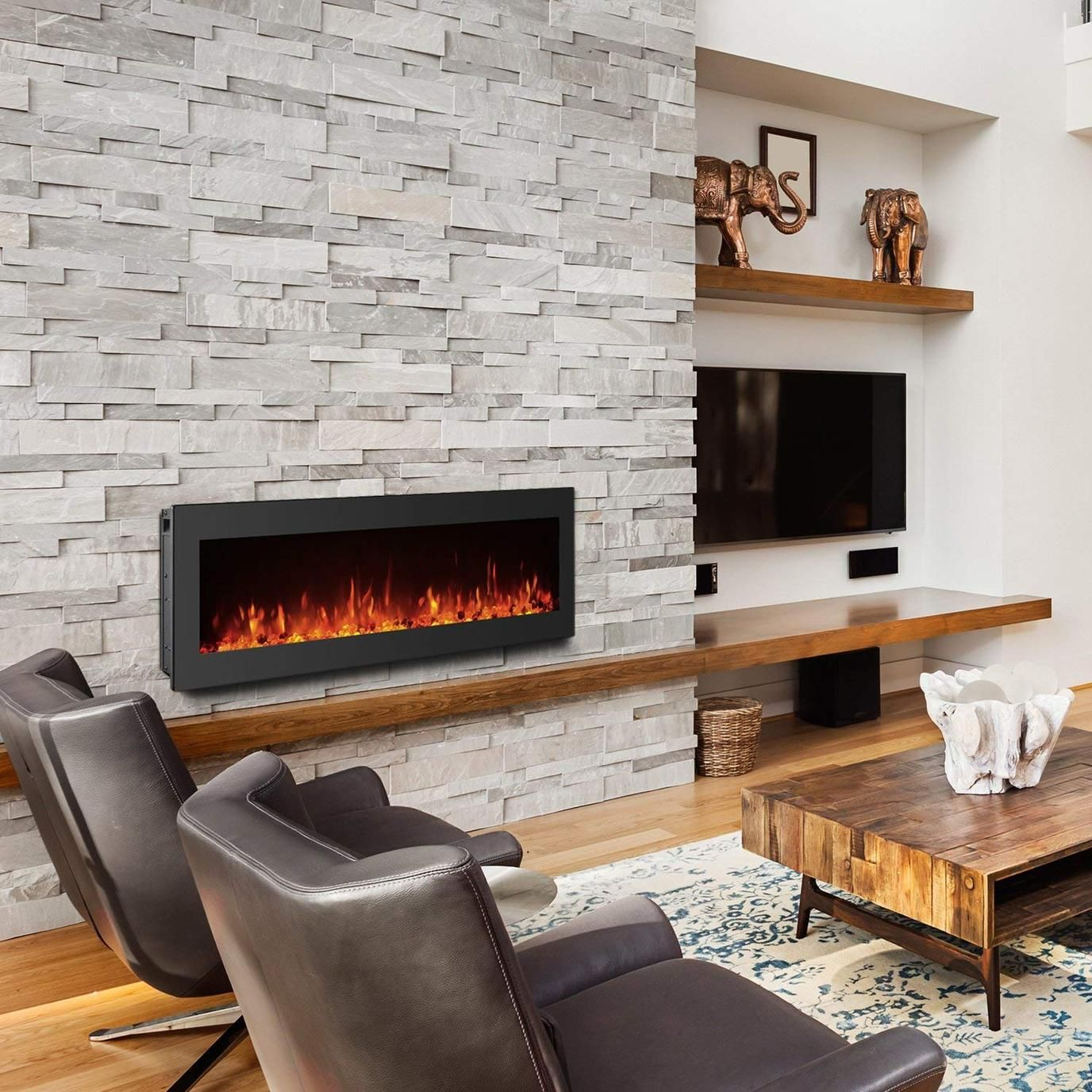 Wall Fireplace Luxury Gmhome Black Electric Fireplace Wall Mounted Heater