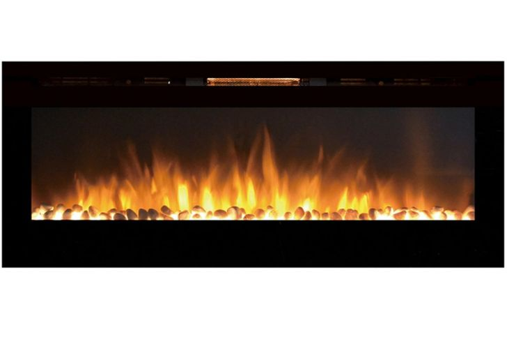 "Wall Mount Propane Fireplace Beautiful Regal Flame astoria 60"" Pebble Built In Ventless Recessed Wall Mounted Electric Fireplace Better Than Wood Fireplaces Gas Logs Inserts Log Sets"