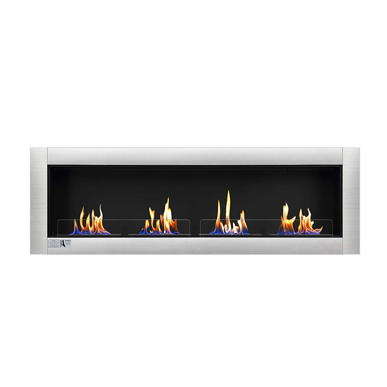 "Wall Mounted Ethanol Fireplace Unique Amazon Antarctic Star 66"" Ventless Ethanol Fireplace"