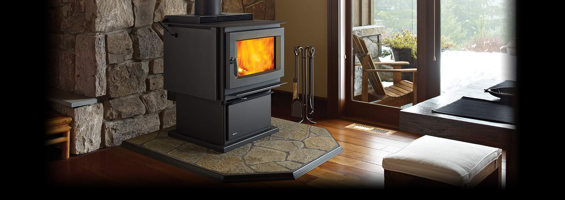 hardwood floor fireplace transition of wood burning stoves regency fireplace products inside regency pro series feature video