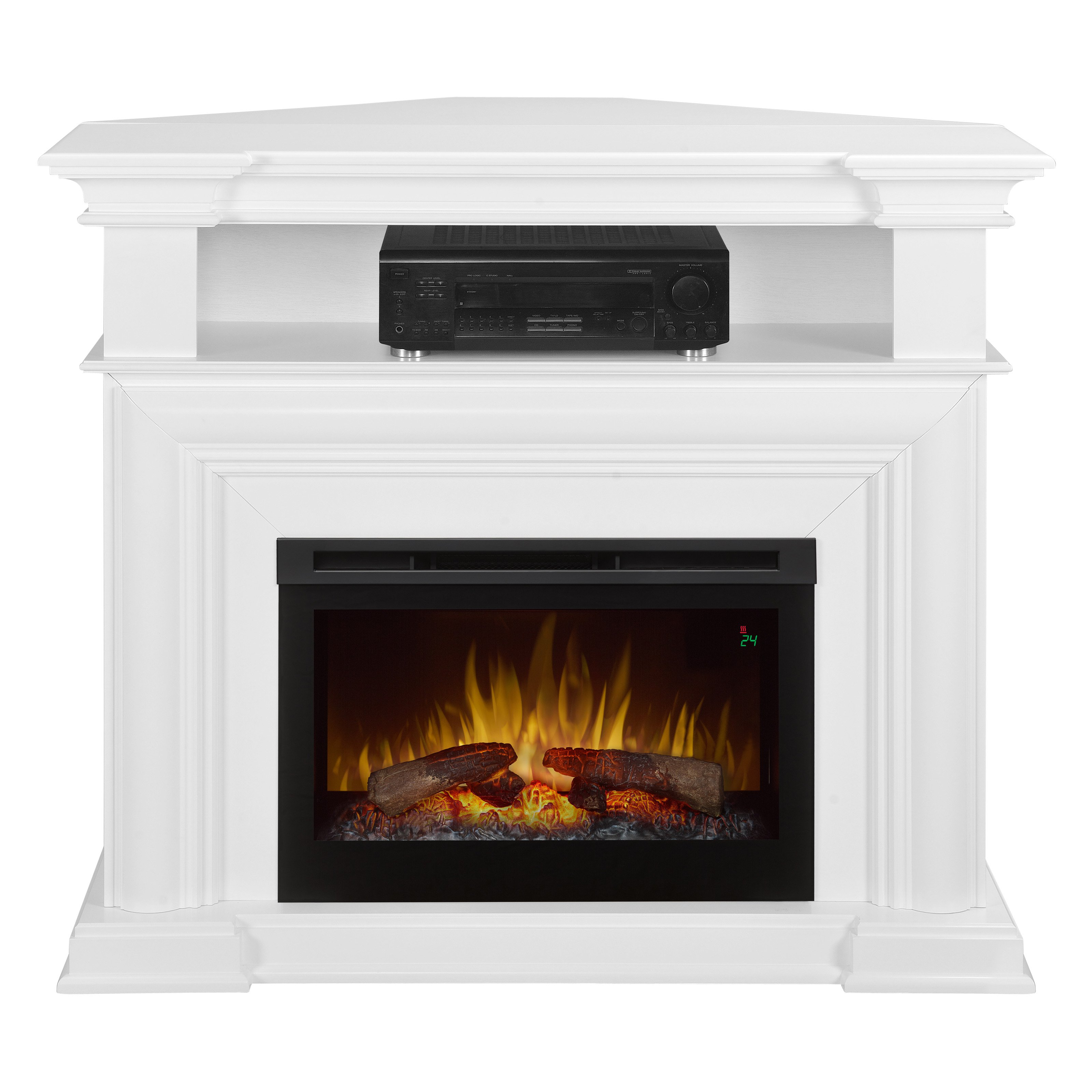 White Corner Electric Fireplace Luxury Electric Fireplace with Convertible Corner Option and Drop Down Front