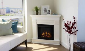 10 Awesome White Corner Fireplace