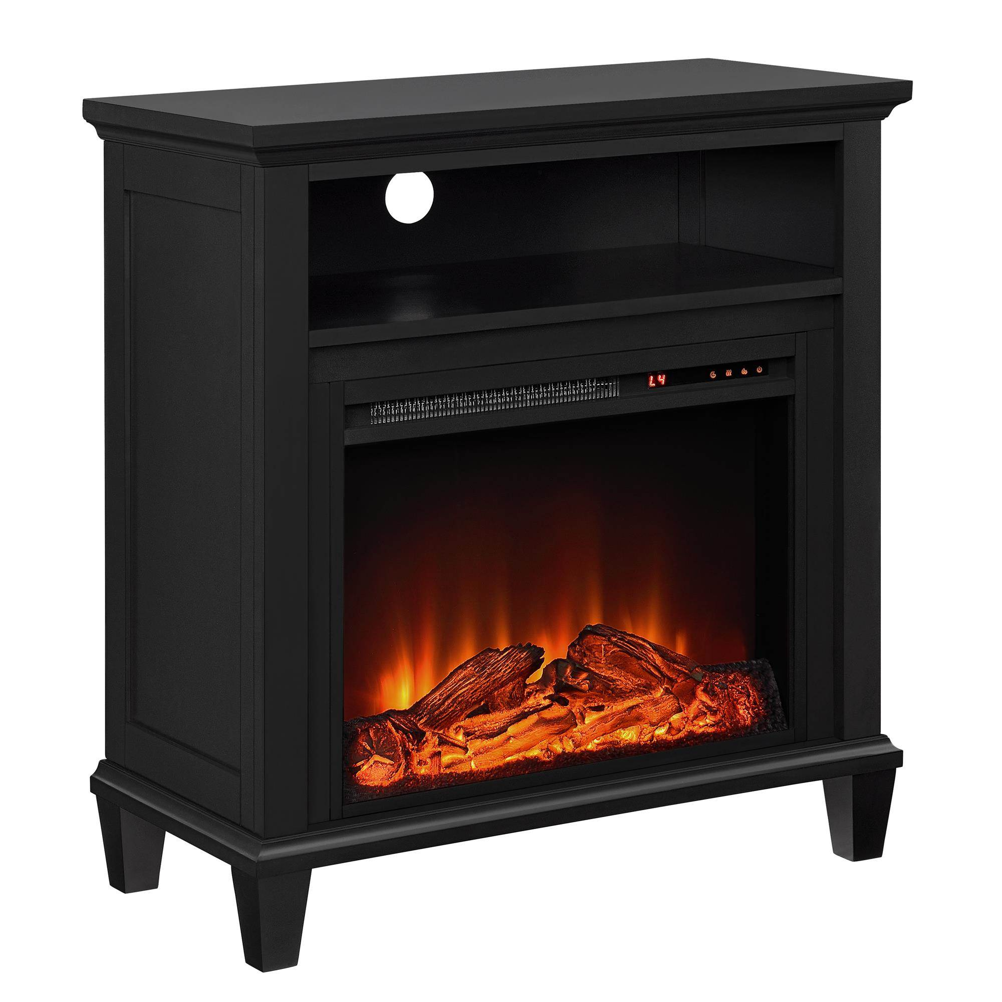 lytton white electric fireplace tv stand