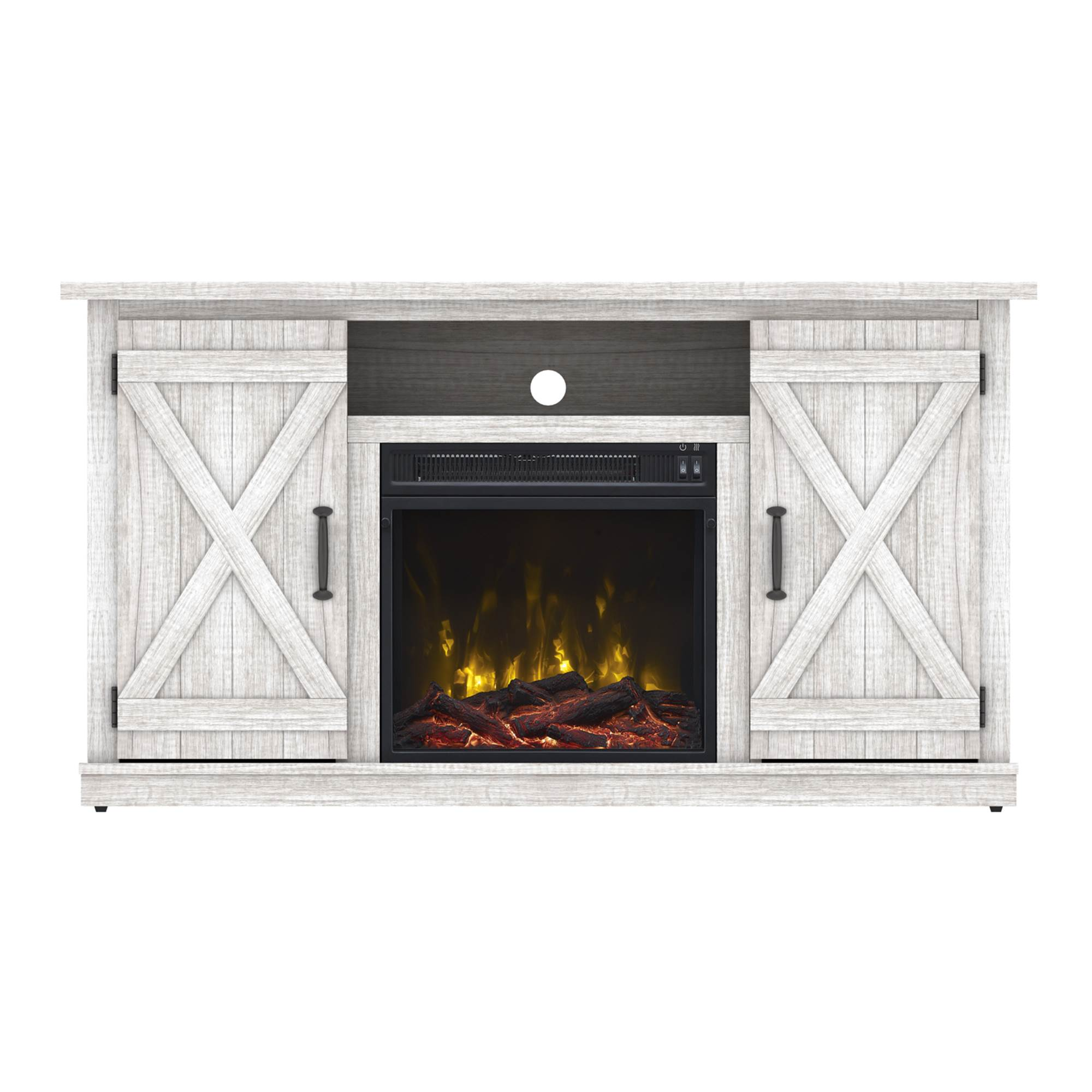 terryville white electric fireplace tv stand