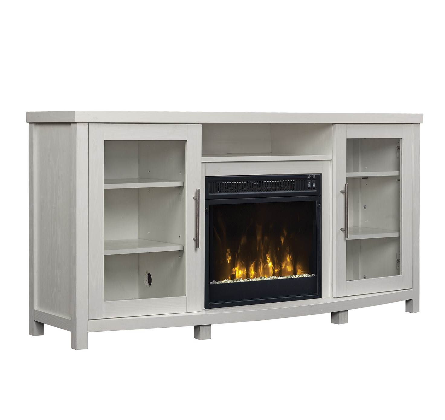 sea white fireplace tv stand