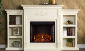 10 Awesome White Electric Fireplace with Shelves