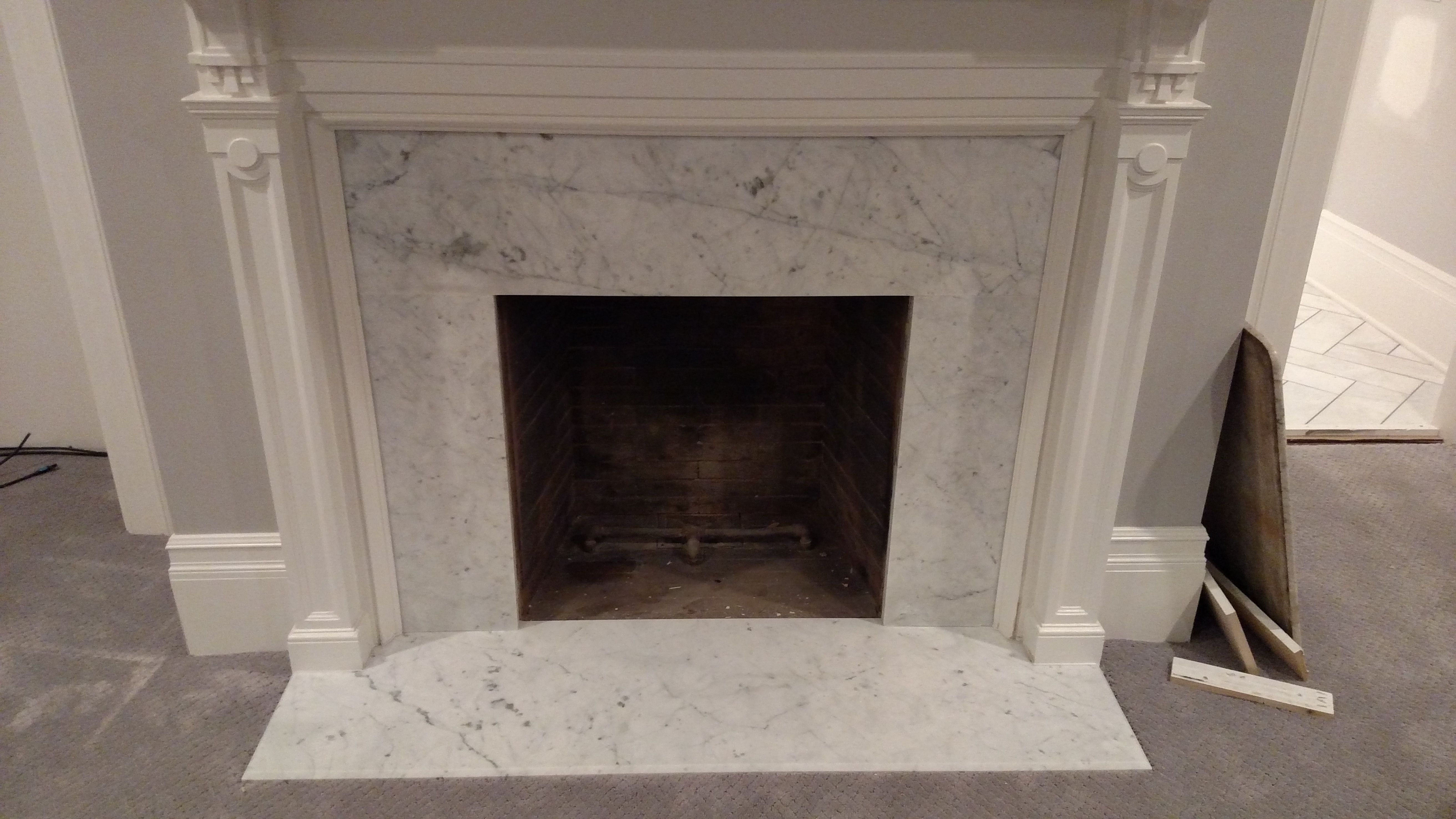 White Marble Fireplace Lovely White Carrera Marble Fireplace Whitecarrera Marble