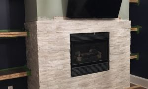 20 Unique White Stacked Stone Fireplace