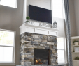 White Stacked Stone Fireplace New Diy Fireplace with Stone & Shiplap