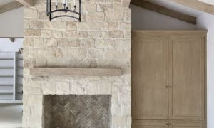 15 Elegant White Stone Fireplace