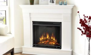 17 Unique White Wood Electric Fireplace