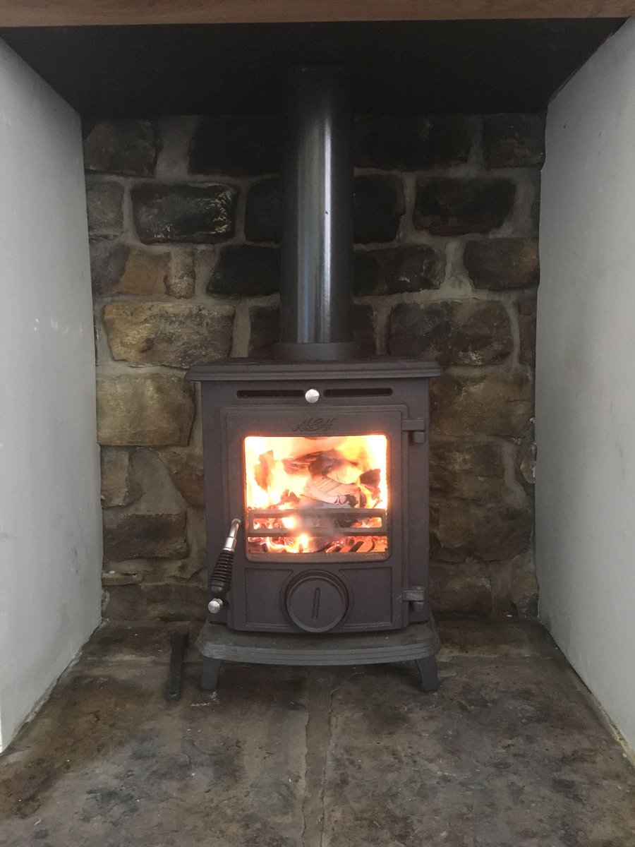 "Wood Burning Fireplace Installation Best Of Stovesareus On Twitter ""a Recent Installation Of A Aga"