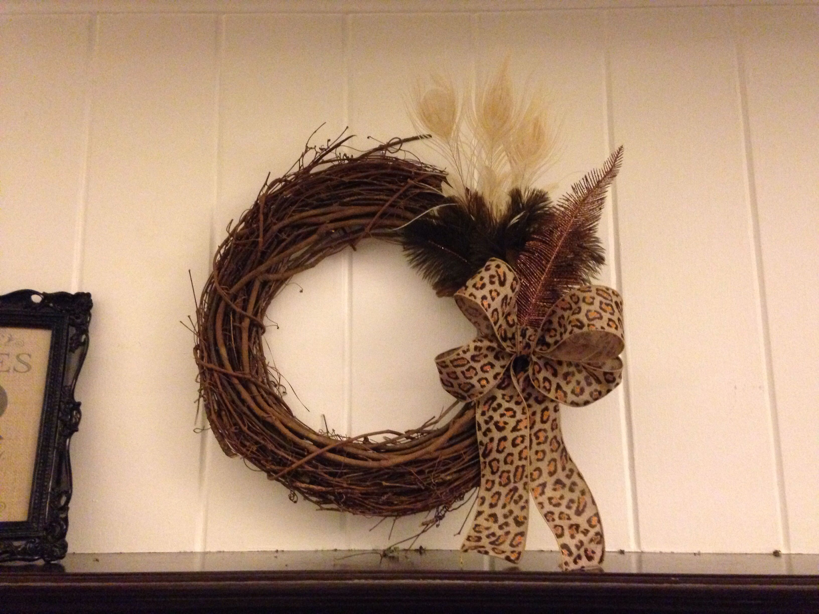 Wreath Over Fireplace Inspirational Wreath Over Fireplace From Feathers From Our Wedding