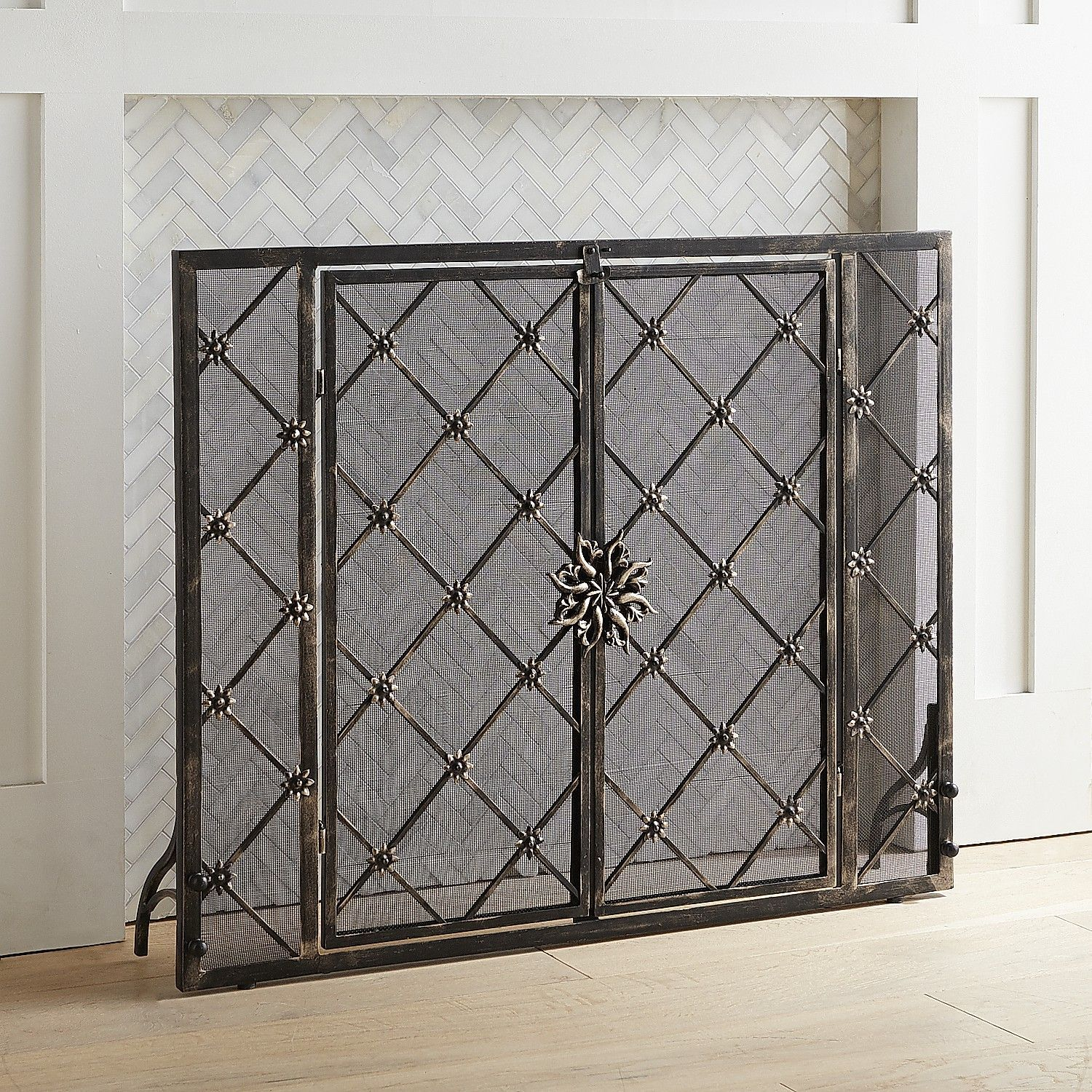 Wrought Iron Fireplace Doors Awesome Junction Fireplace Screen In 2019 Products