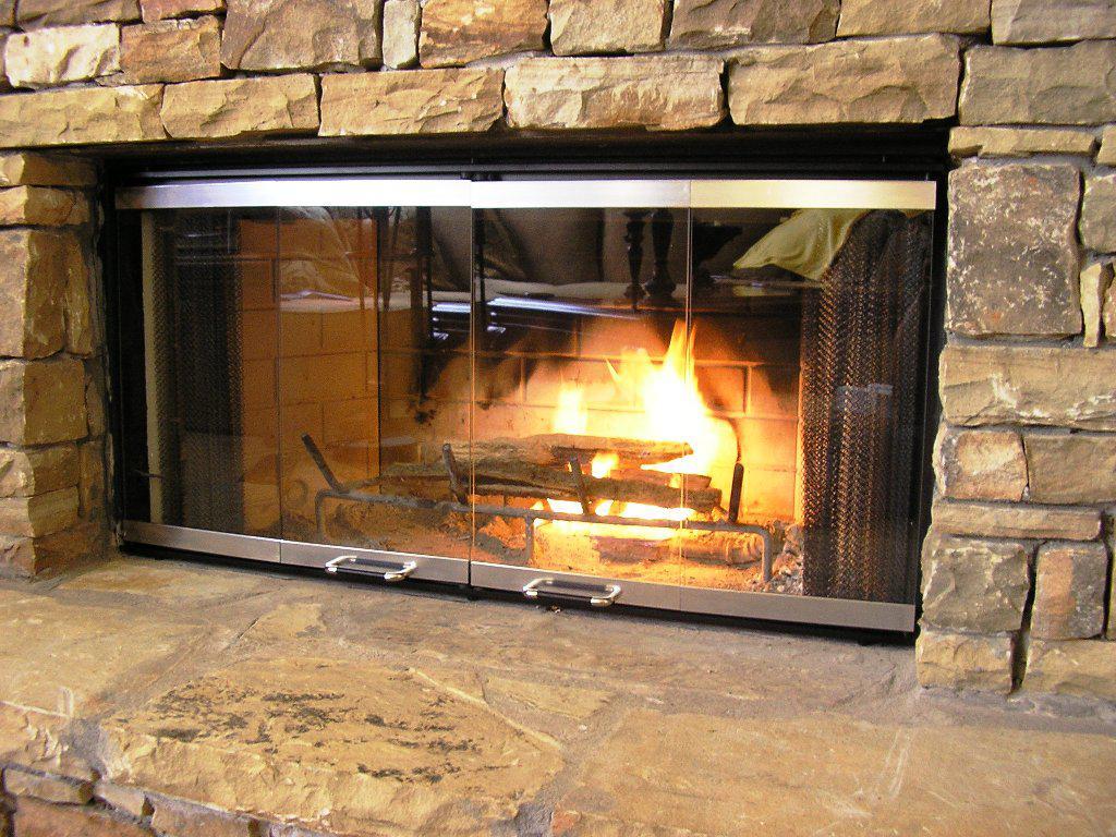 DIY Masonry Fireplace Doors