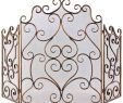 Wrought Iron Fireplace Screen Fresh Uttermost Kora Fireplace Screen Gold