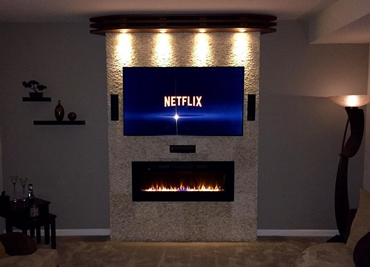 65 Inch Tv Over Fireplace Beautiful Amazon Napoleon Efl50h Linear Wall Mount Electric
