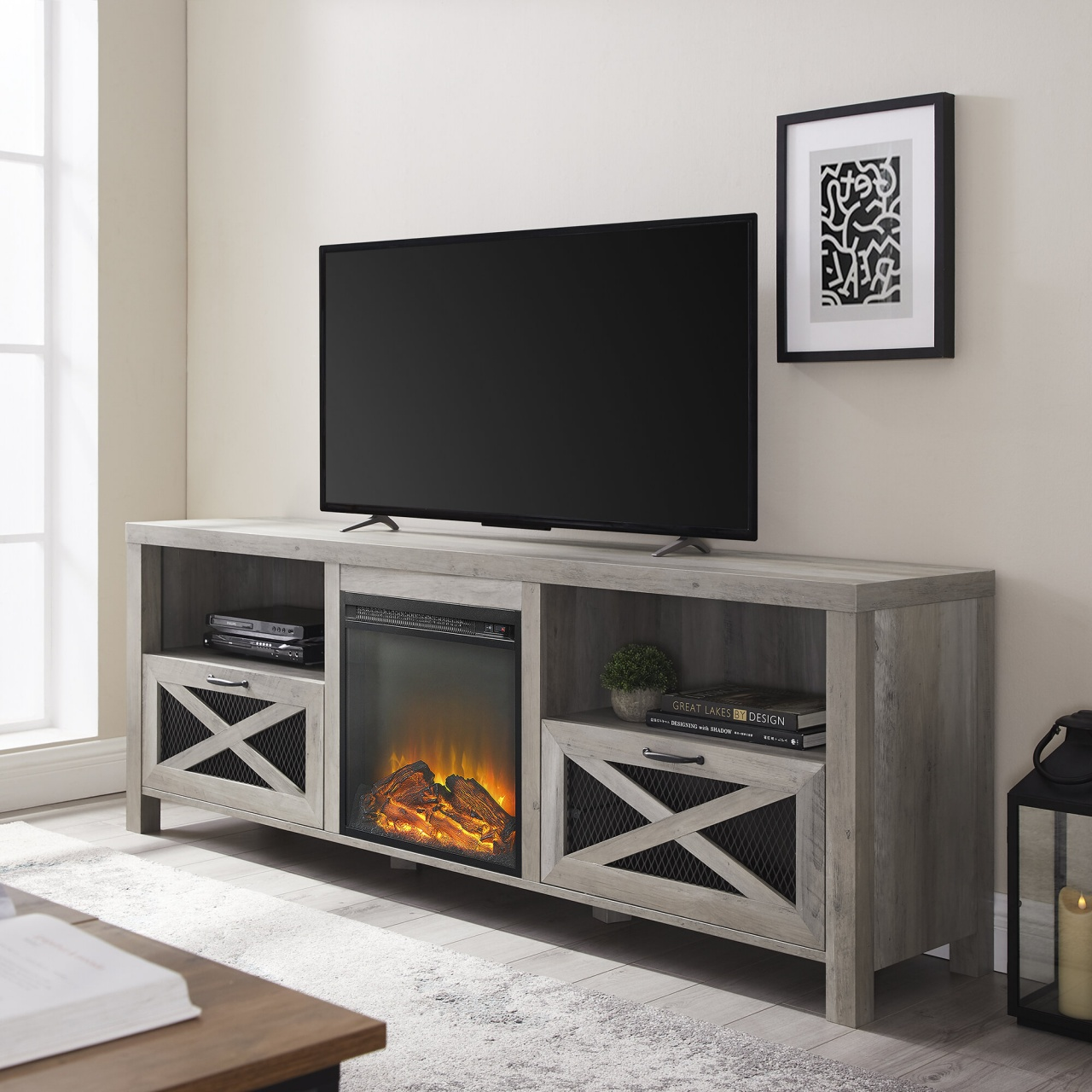 70 inch tv stand with fireplace tansey tv stand for tvs up to 78 inches from 70 inch tv stand with fireplace
