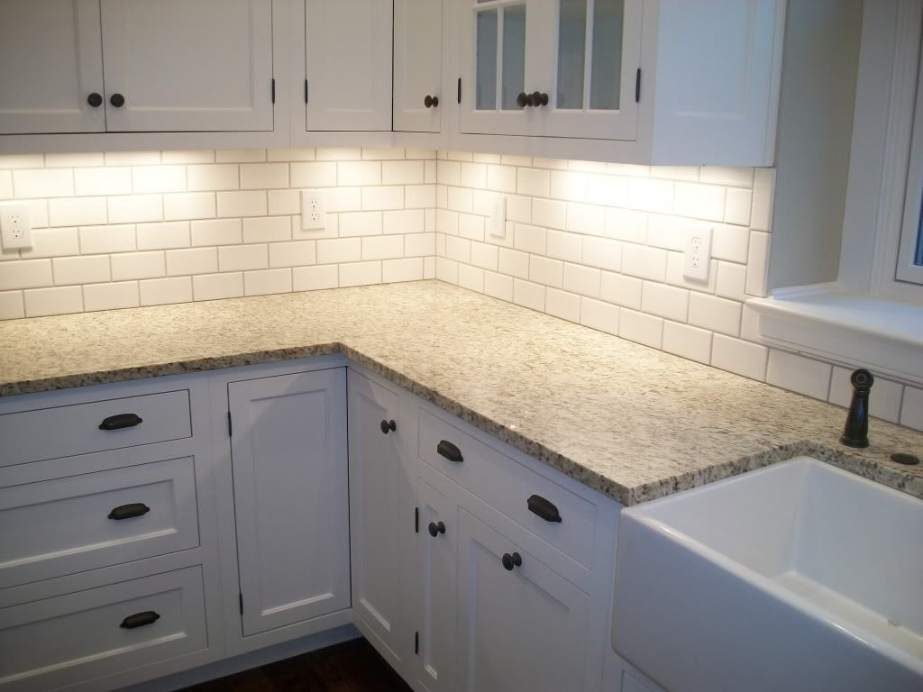 Beveled Subway Tile Backsplash Fresh White Tile Kitchen Backsplashes