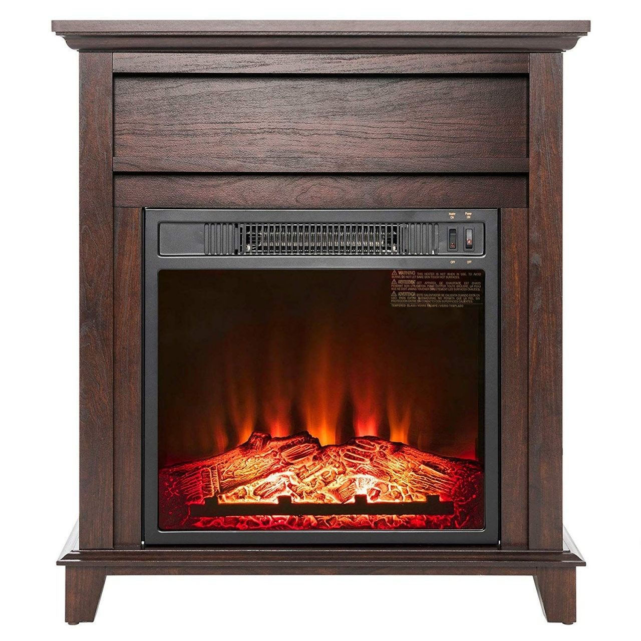 electric fireplace logs with heat akdy 27quot brown wood finish insert freestanding from electric fireplace logs with heat