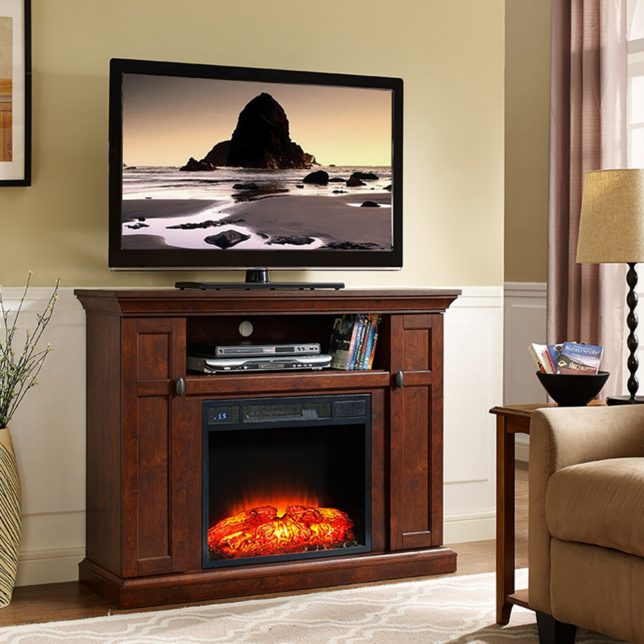 built in electric fireplace and tv design home source industries tao electric fireplace tv stand from built in electric fireplace and tv design