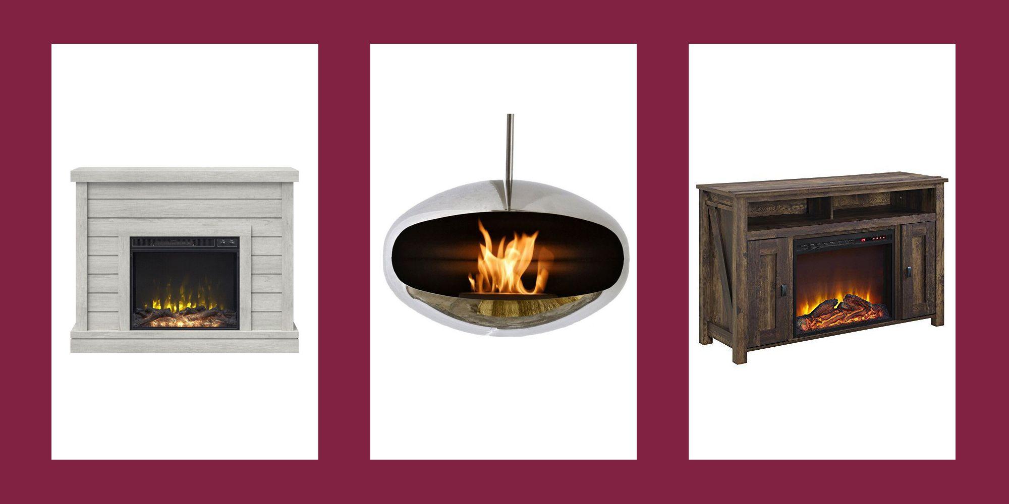 fake fireplace ideas lead