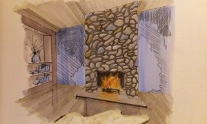 74 Lovely Fire Place Drawing