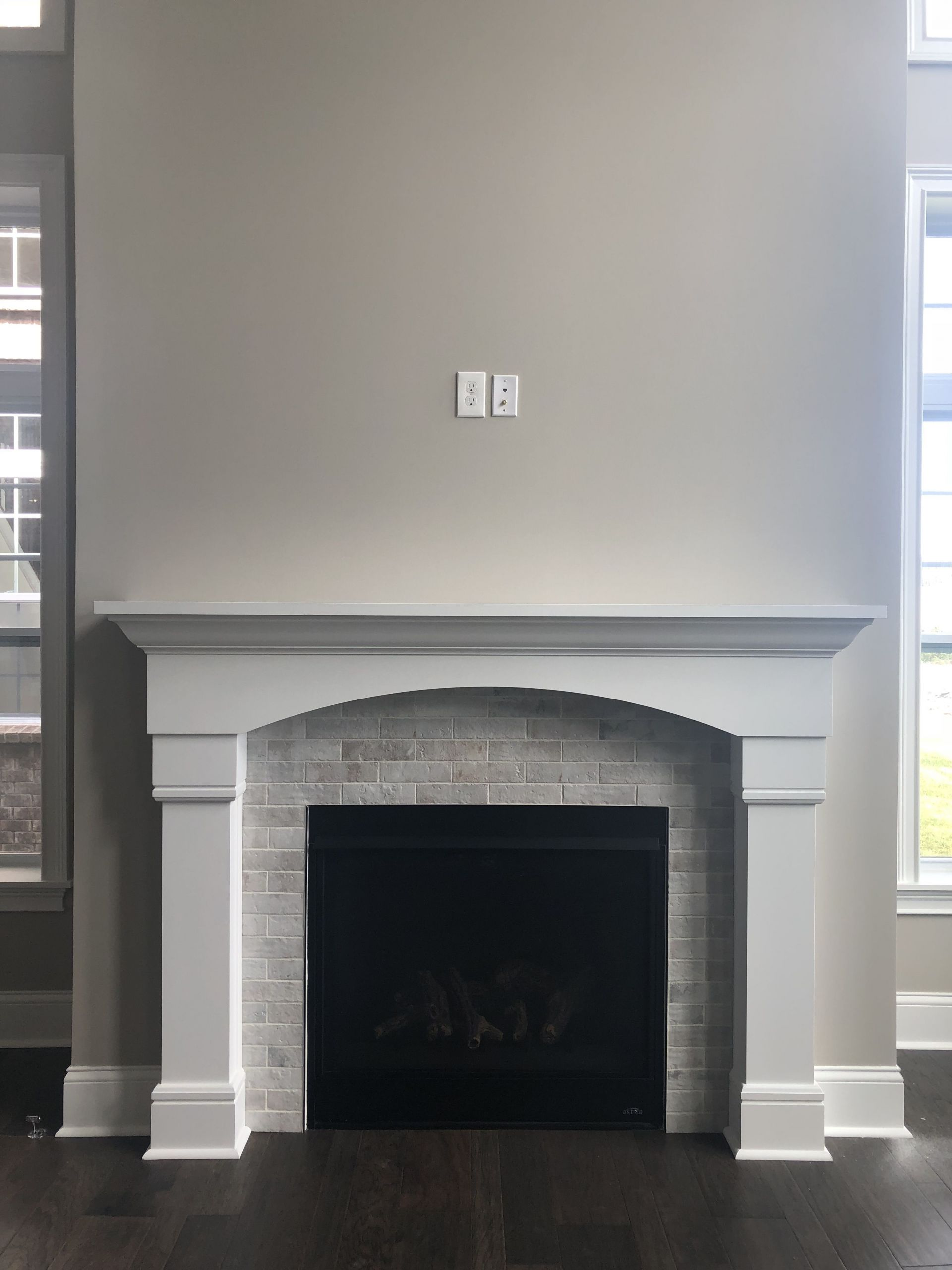 fireplace tile surround best of mantle 2 brickwork 2x8 studio tile surround of fireplace tile surround