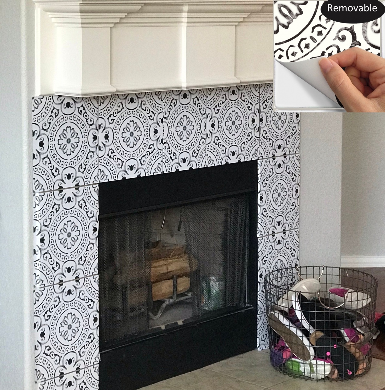 peel and stick tile fireplace 226 best tile sticker images in 2019 from peel and stick tile fireplace