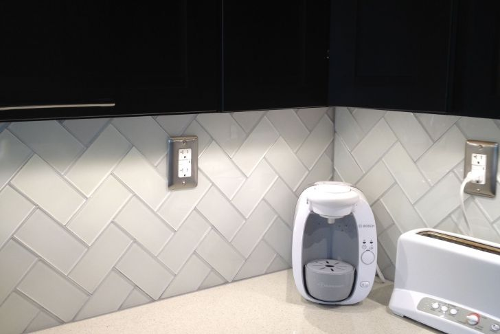 Herringbone Backsplash Subway Tile New Herringbone Pattern White Glass Subway Tile Added Delorean