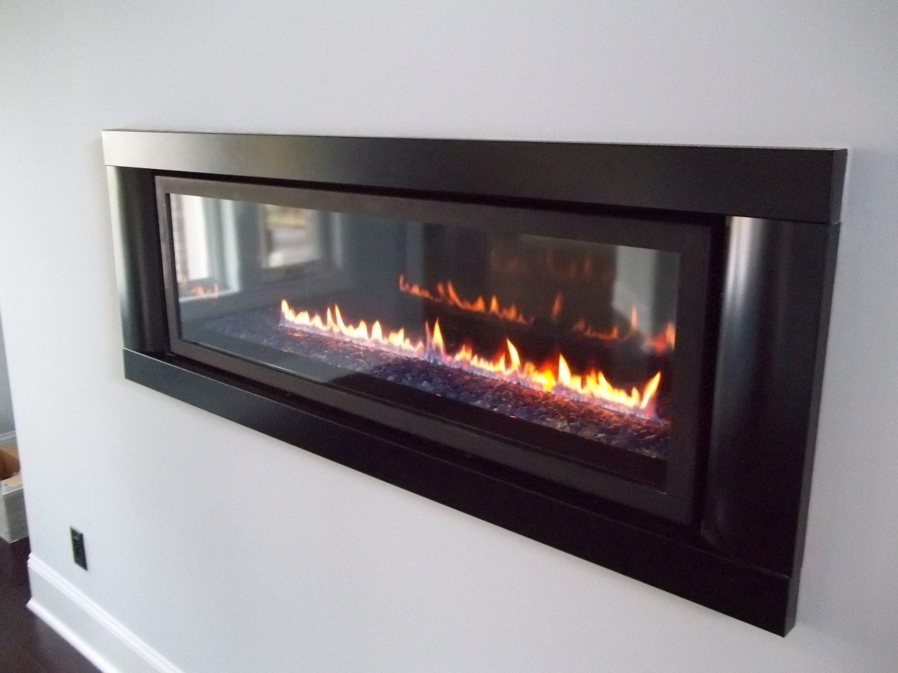 vent free gas fireplace inserts napoleon lhd45 in a very uncluttered wall from vent free gas fireplace inserts