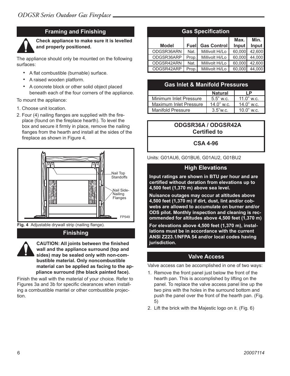 majestic appliances odgsr36a page6