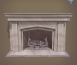 Rendering Fireplace Lovely Neo Gothic Fireplace