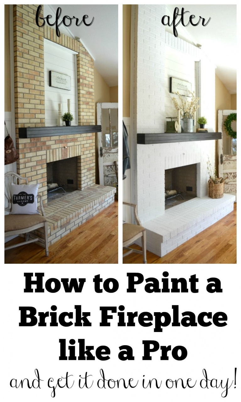how to refinish a fireplace how to paint a brick fireplace home renovation from how to refinish a fireplace