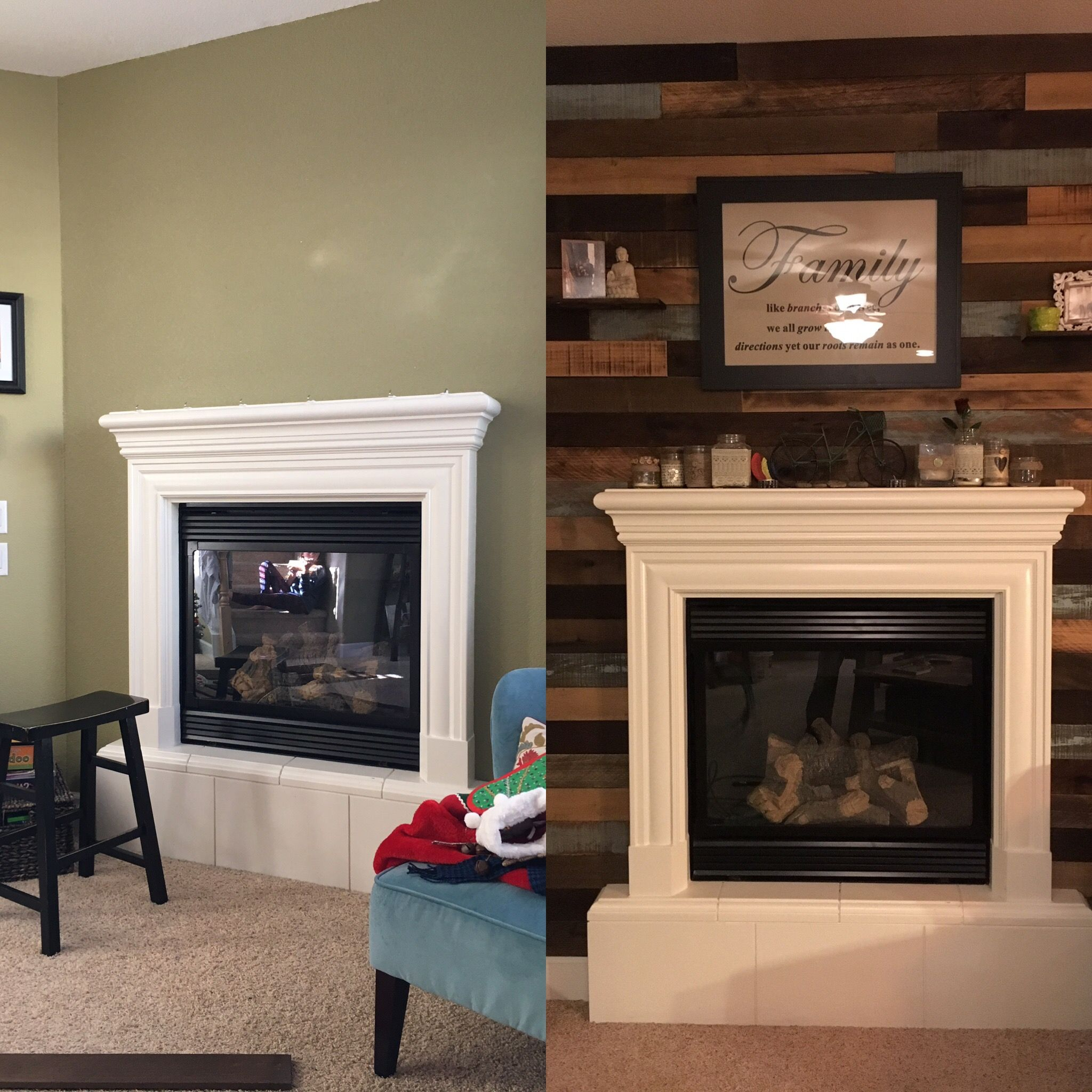 Rustic Wood Fireplace Surround Awesome Reclaimed Wood Fireplace Wall